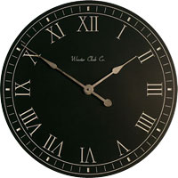 personalize White Letter Series Clocks
