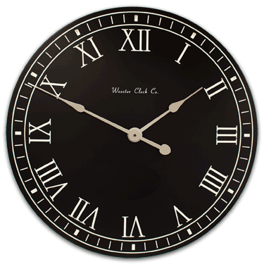Personalize Black White Letter Series Clock