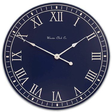 Personalize Heritage Blue White Letter Series Clock