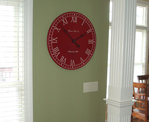 Red / White Personalized Clock