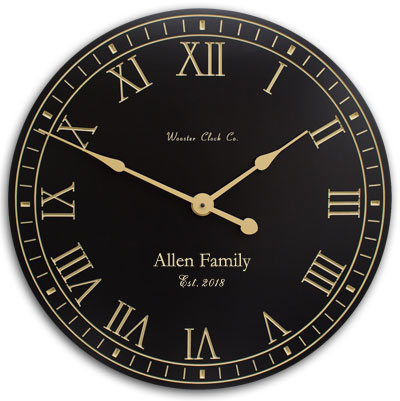 Personalized Blank and Tan Clock