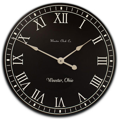 Personalized Blank and White Clock