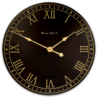 personalize Black and Gold Clock