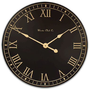 personalize Black and Tan Clock