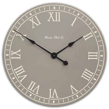Personalize Gray White Letter Series Clock