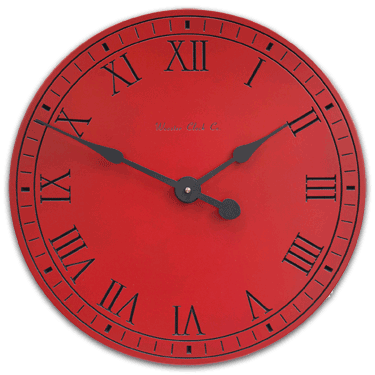 personalize Red Original Clock