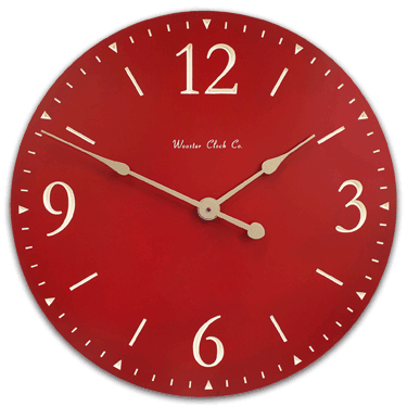 Personalize Red SD Series Clock