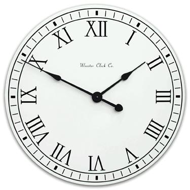personalize White Original Clock