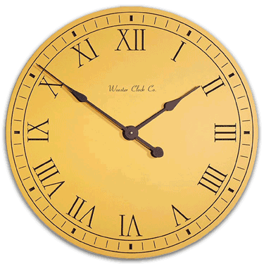 Personalize Yellow Original Clock