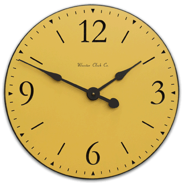 personalize Yellow SD Series Clock