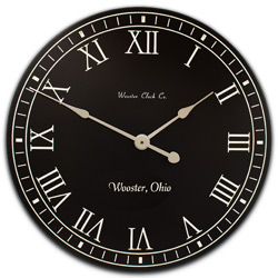 personalize White Letter Series Clocks