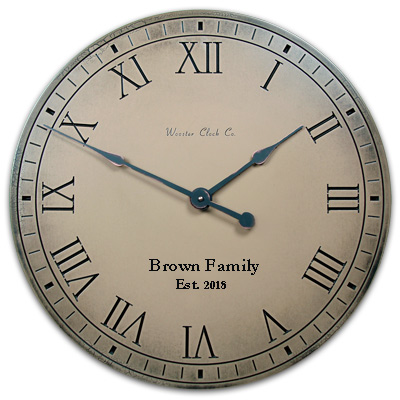Khaki Antiqued is the Color of this Personalized Clock