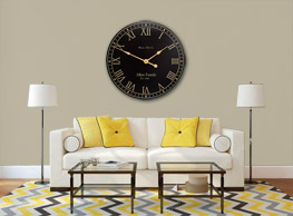 Black and Tan Wall Clock